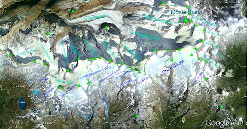 Google Earth  Monte Rosa Sector