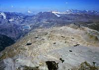 Gran Paradiso GROUP: view  westwards from Punta Fourà ...