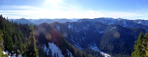 Everett Peak - south pano