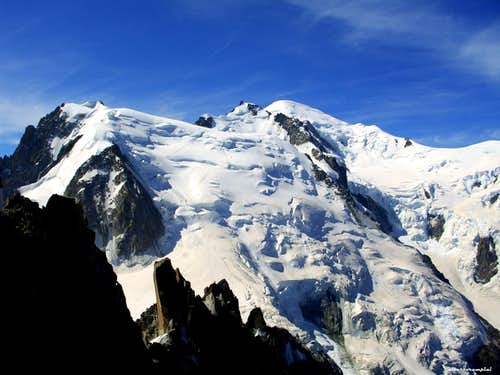 Tacul, Maudit and Mont Blanc main summit from Aiguille du Midi