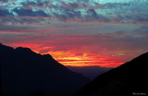 Burning sunset from Tizi'n Tarakatine Col