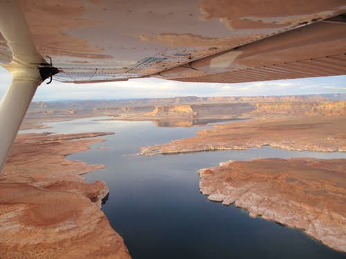 Lake Powell seen from the air