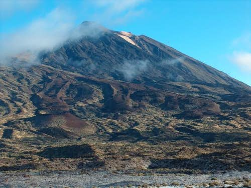Teide, 30th Januari. Snow in...