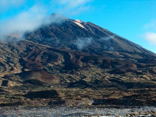 Teide, 30th Januari. Snow in...