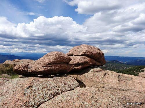 Boulders on the summit