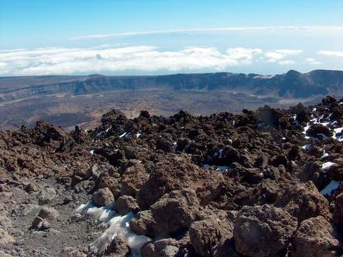 View from Teide into Northern...