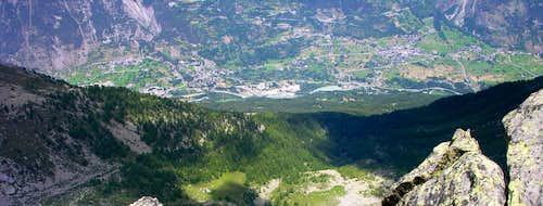 Mont Charvet above the