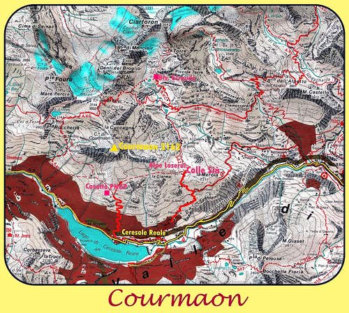 Courmaon map