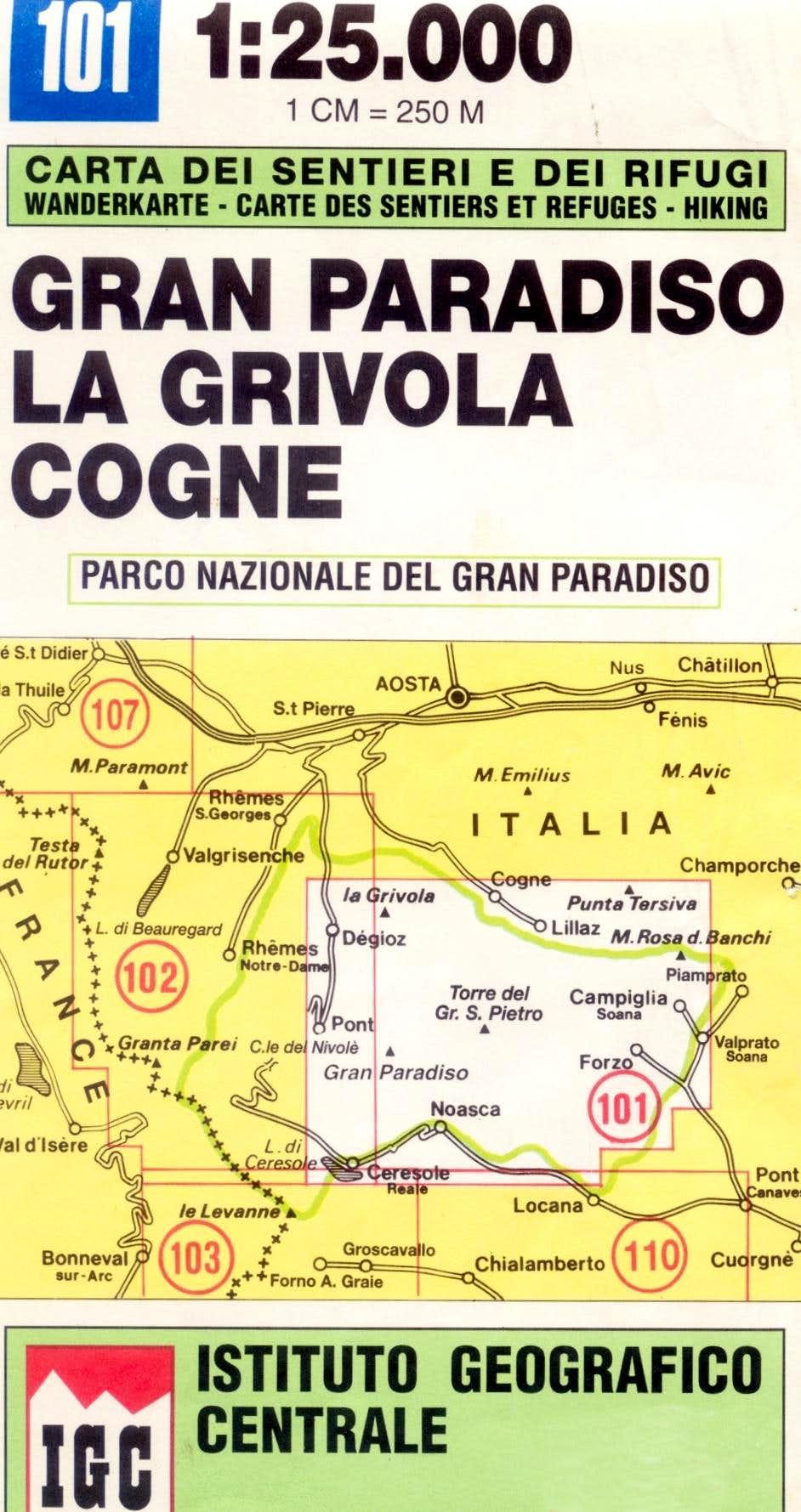 Gran Paradiso map 1.25.000