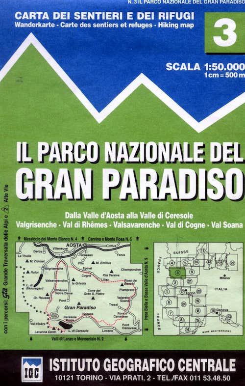 Gran Paradiso map 1:50.000