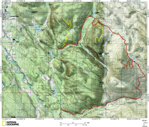 Littler Pilchuck route map
