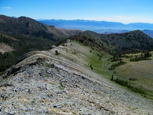 back down east ridge