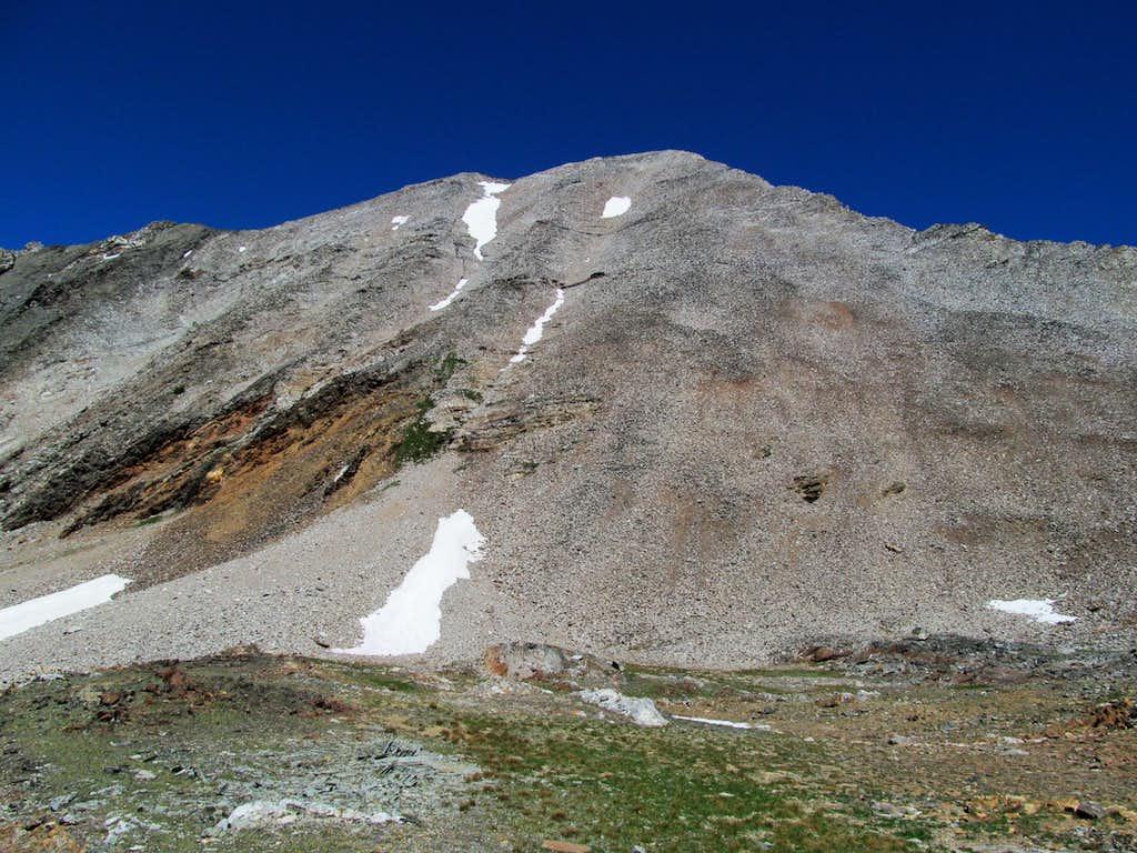 Hyndman's rocky slopes