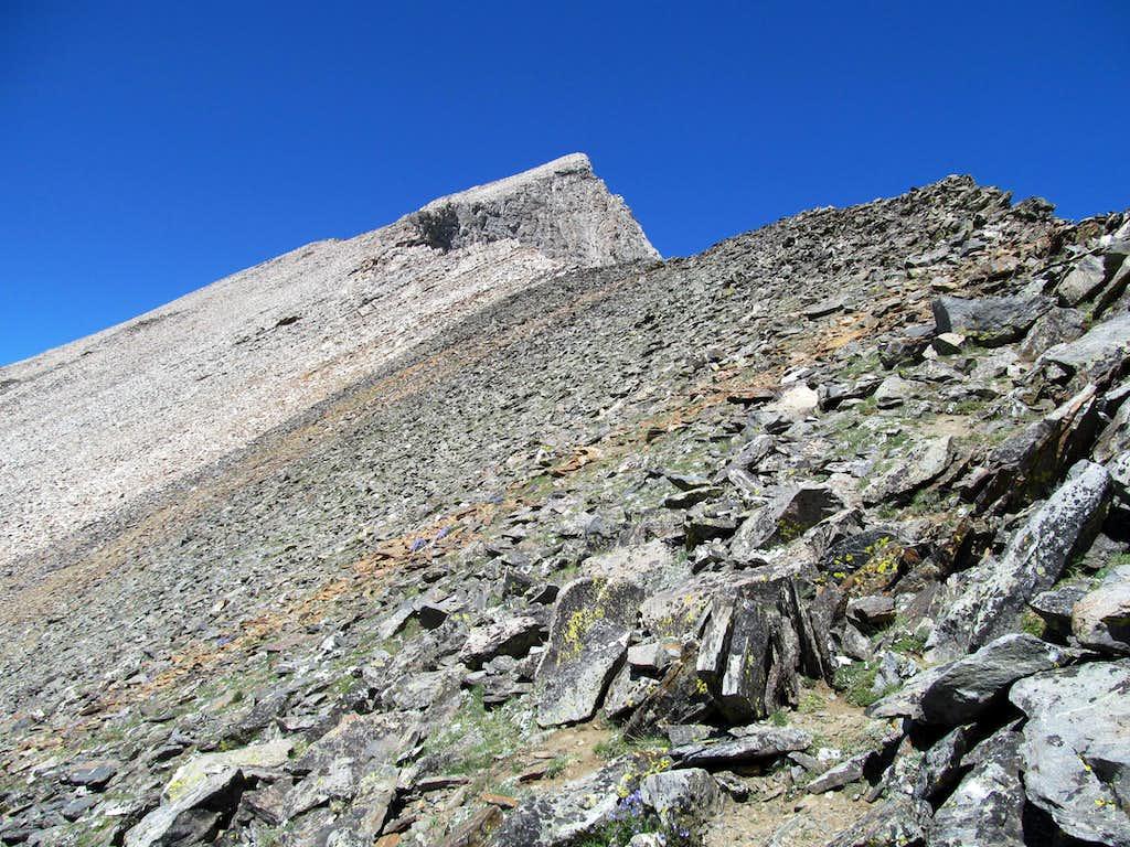 ascending East Ridge