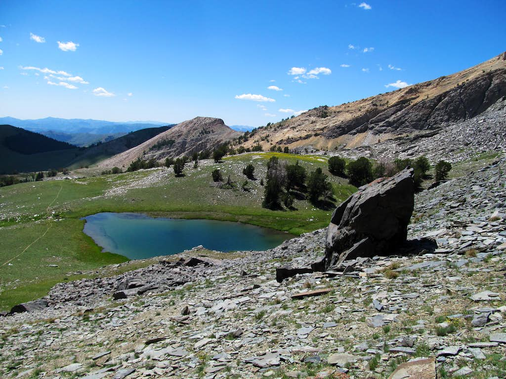 pond in the high basin