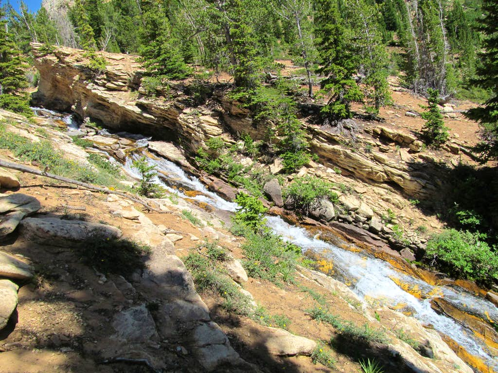 waterfall along the trail