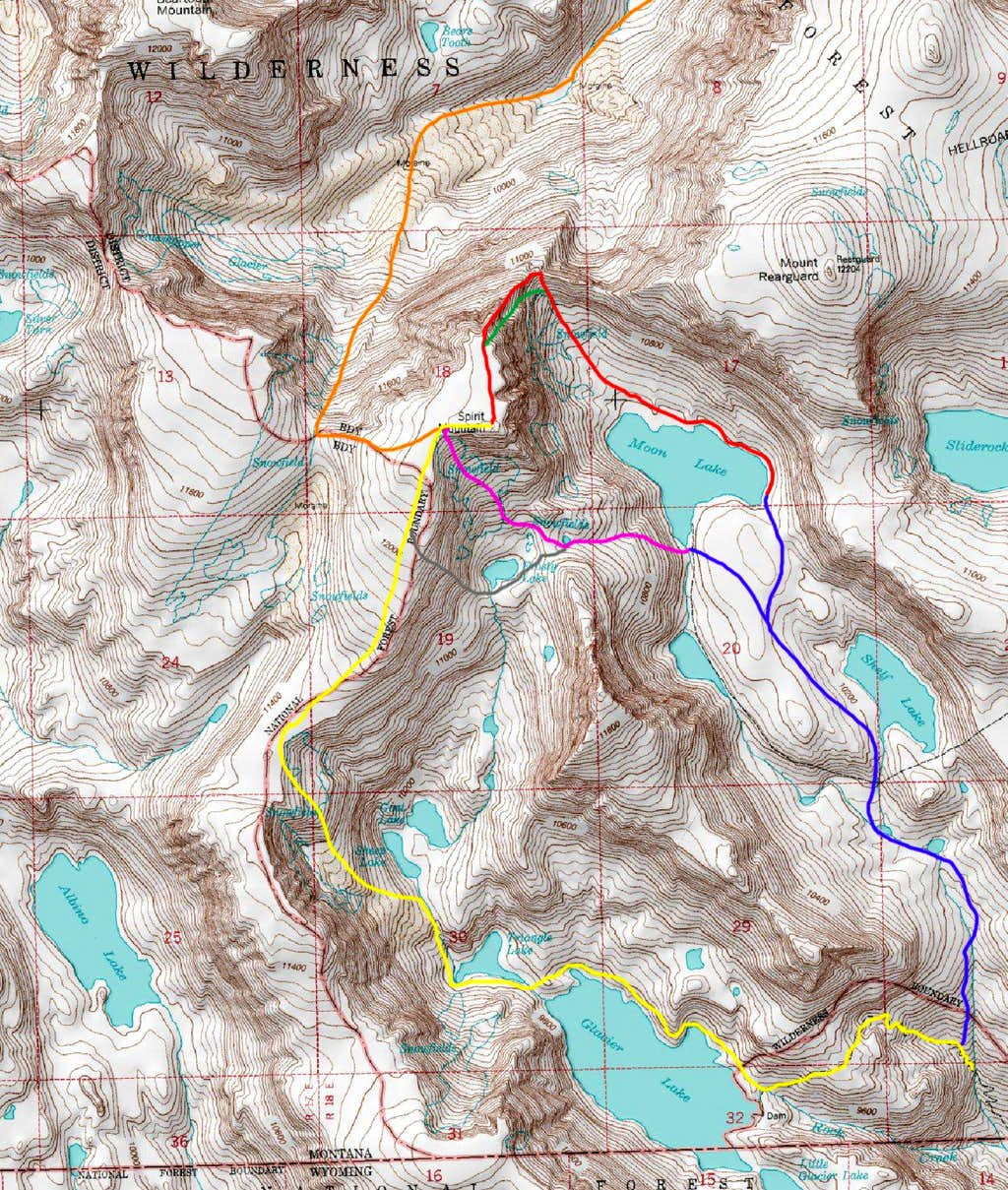 Spirit Mountain Routes Map