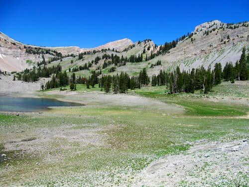 shorelines of Upper Crow Creek Lake