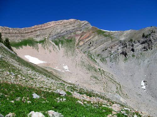 peak north of Fitz