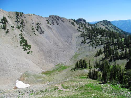 parallel ridge north of Fitz