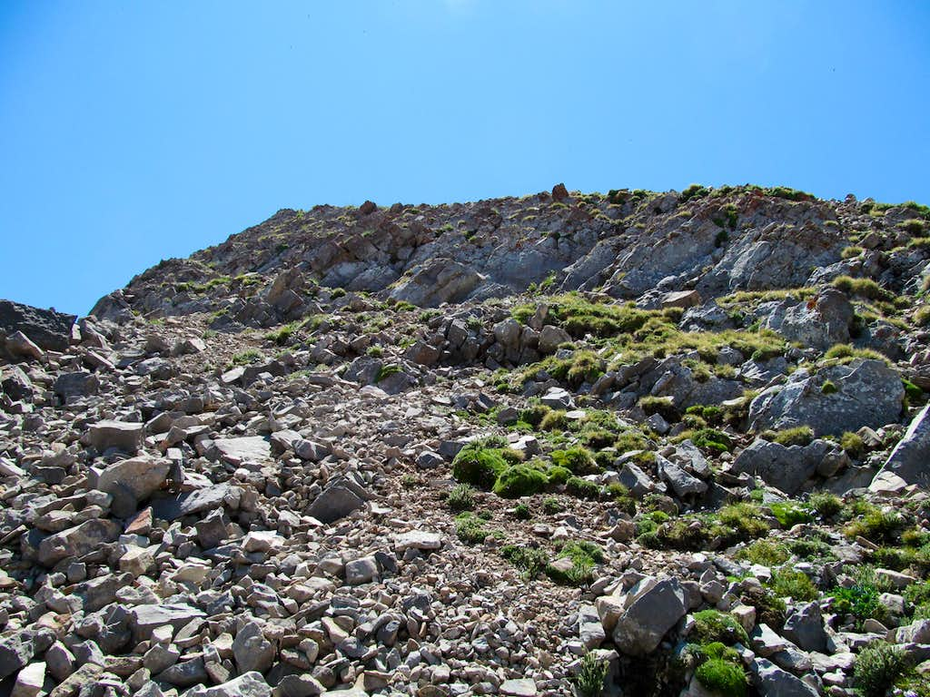 a loose rocky section
