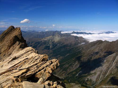 Taillante summit crest