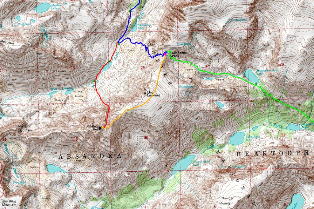 Whitetail Peak Map