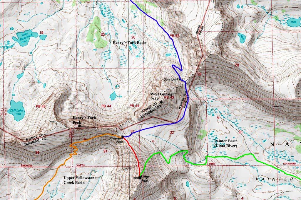 Kings Peak North Map