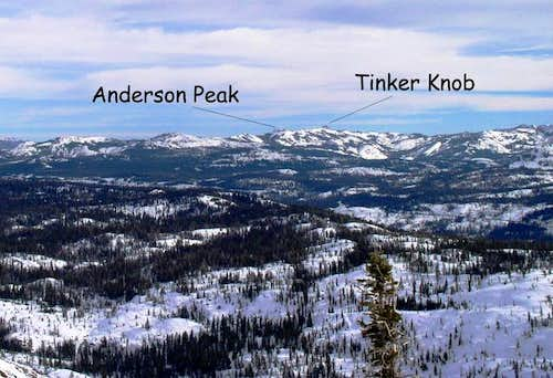 Anderson Peak and Tinker Knob...
