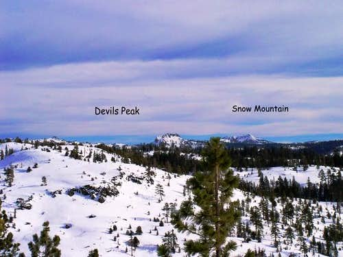Devils Peak and Snow Mtn from...