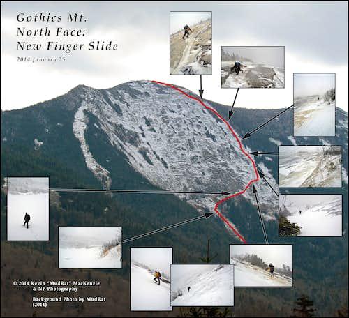Gothics North Face-New Finger Slide