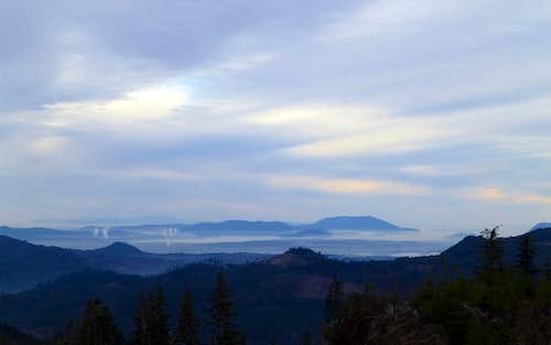 San Juan Islands from Frailey Mountain