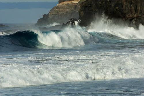 Huge breakers on Tenerife s north coast