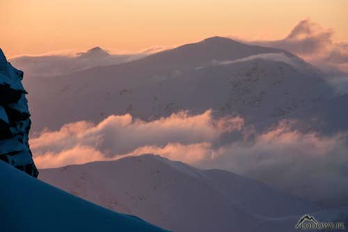 Sunset winds on Bystra ridge