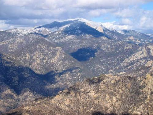 Looking at Mt. Lemmon - the...