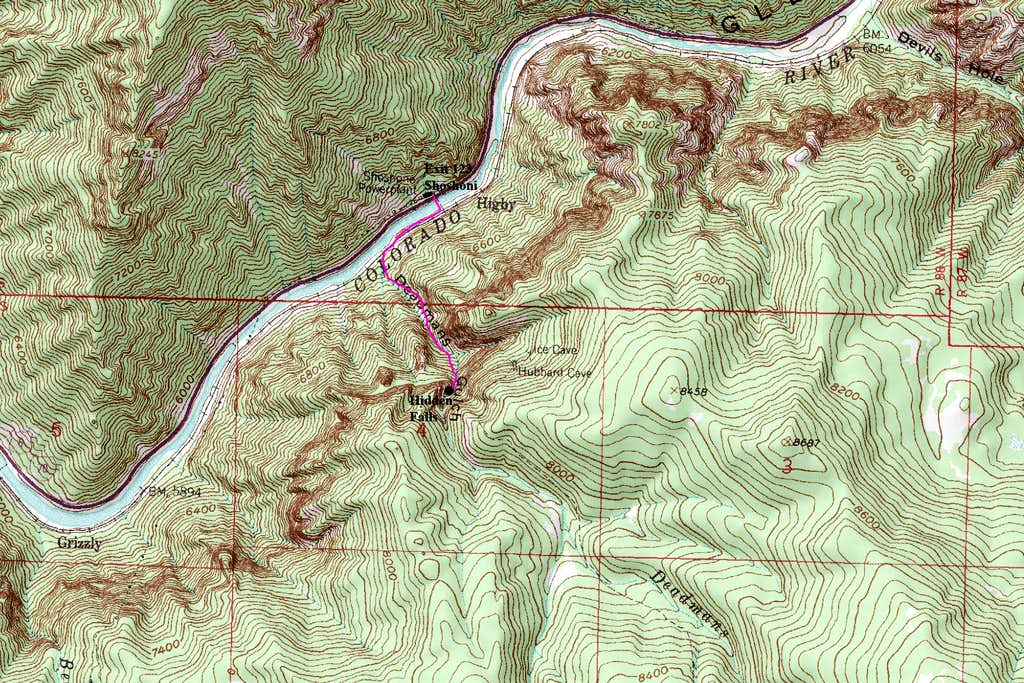 Hidden Falls Map