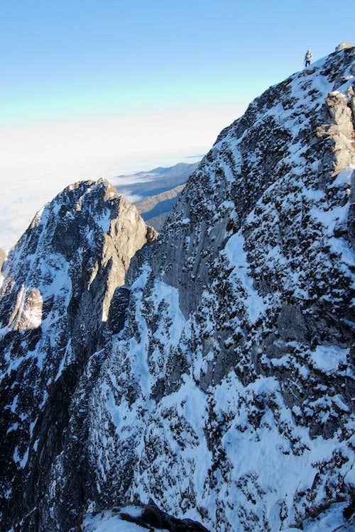 600 meters downwards