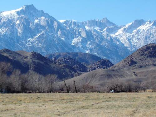 Mt. Whitney (right center),...