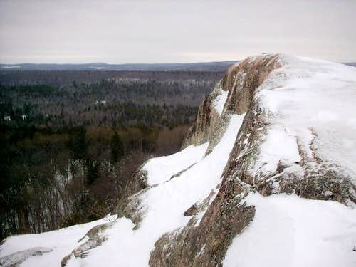 The summit rocks of Hogback...