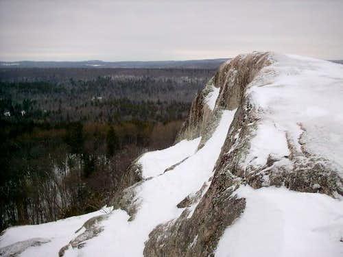 The summit rocks of Hogback...