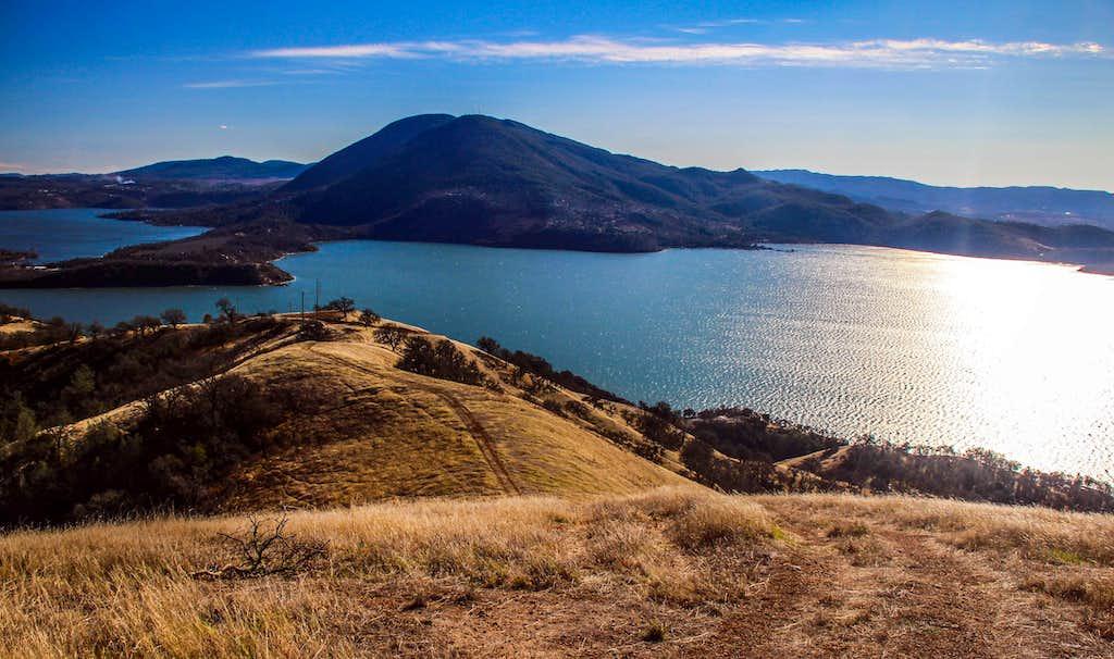 Mt. Konocti over Clear Lake