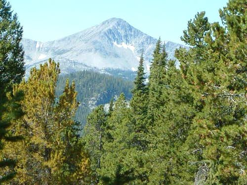 A look at Ajax Peak from the...