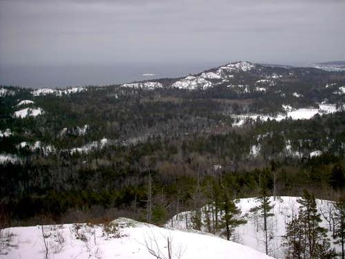 Looking east to Lake Superior...