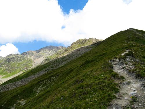 The trail above Scheid to the tieftalsee