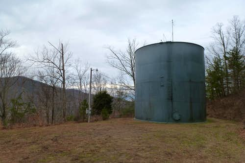 Water Tower at the Roundtop Ridge Trailhead