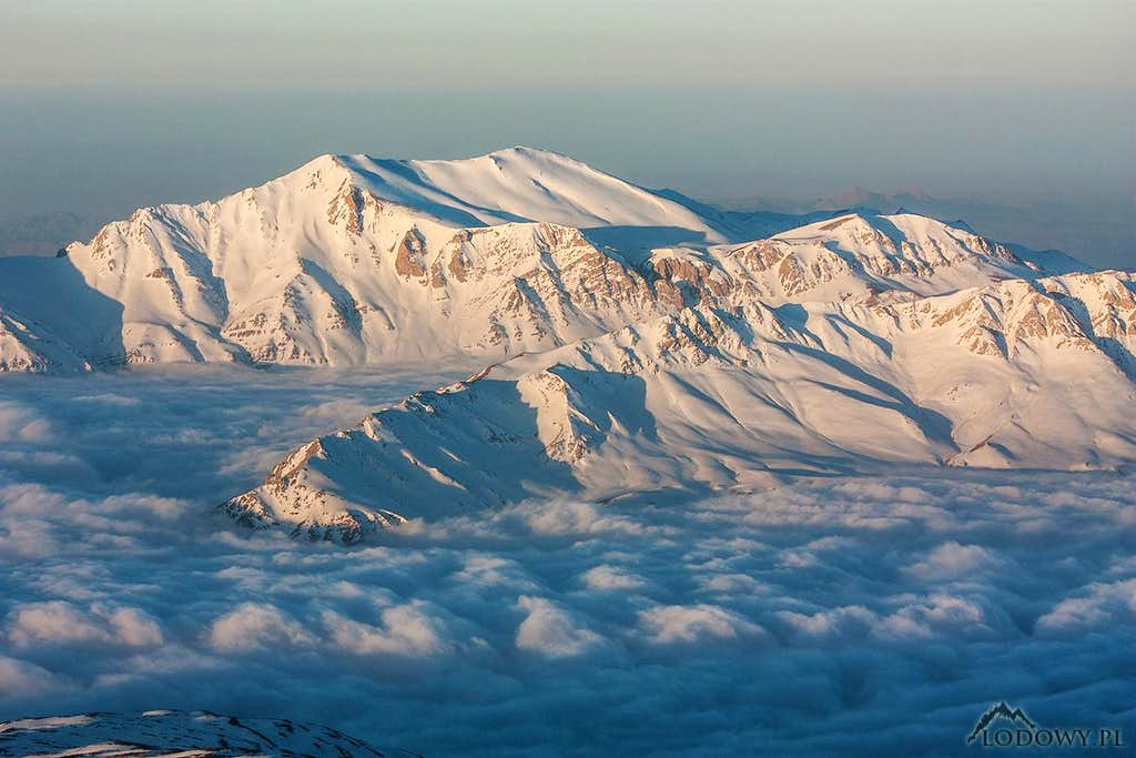Central Alborz above the clouds