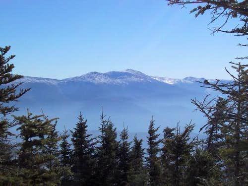 Peek-a-boo view of Mt....