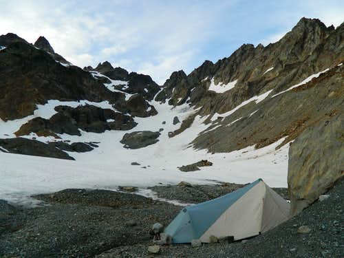 camp near Anderson Glacier