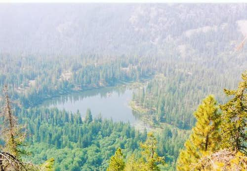 Coon Lake from the trail on...