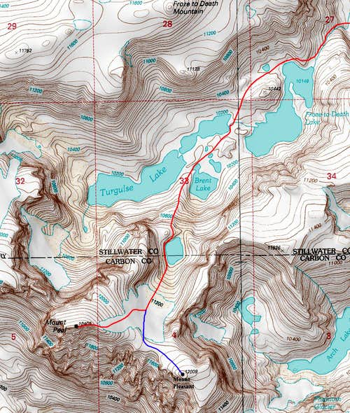 Mount Peal Route Map